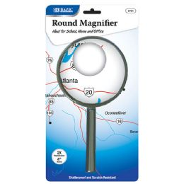 "12 Units of 4"" Round 2x Handheld Magnifier - Magnifying  Glasses"