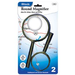 "48 Units of 3.5"" & 2.5"" Round Handheld Magnifier Sets (2/Pack) - Magnifying  Glasses"