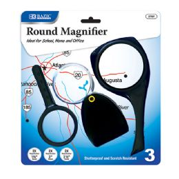 12 Units of 2x Magnifier Sets (3/Pack) - Magnifying  Glasses