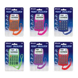48 Units of 8-Digit Pocket Size Calculator W/ Neck String - Calculators