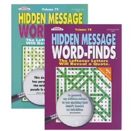 48 Units of KAPPA Hidden Message Word Finds Book - Crosswords, Dictionaries, Puzzle books
