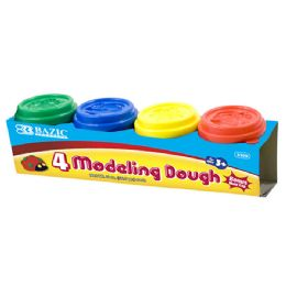 36 Units of 2 Oz. Multi Color Modeling Dough (4/Pack) - Clay & Play Dough