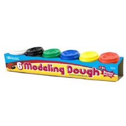 24 Units of 2 Oz. Multi Color Modeling Dough (6/Pack) - Clay & Play Dough
