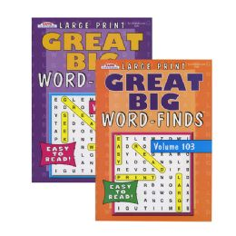 48 Units of KAPPA Large Print Great Big Word Finds Puzzle Book - Crosswords, Dictionaries, Puzzle books