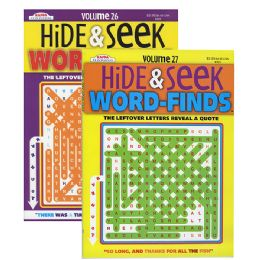 48 Units of KAPPA Hide & Seek Word Finds Puzzle Book - Crosswords, Dictionaries, Puzzle books