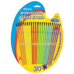 12 Units of Kid's Watercolor Paint Brush (24/Pack) - Paint, Brushes & Finger Paint