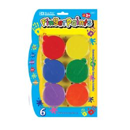 24 Units of Assorted Color 40ml Finger Paint (6/Pack) - Paint, Brushes & Finger Paint
