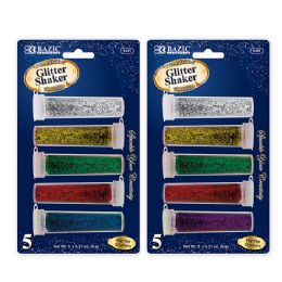 24 Units of 6g / 0.21 Oz. 5 Primary Color Glitter Shaker - Craft Glue & Glitter