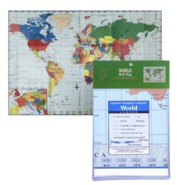 24 Units of Folded World Map - Classroom Learning Aids