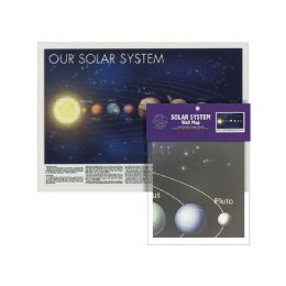 24 Units of Folded Solar System Wall Map - Classroom Learning Aids