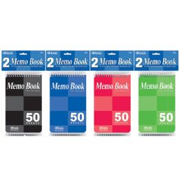 "24 Units of 50 Ct. 4"" X 6"" Top Bound Spiral Memo Books (2/Pack) - Memo Holders and Magnets"