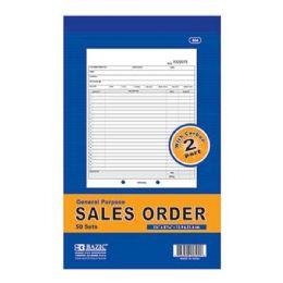 "24 Units of 50 Sets 5 9/16"" X 8 7/16"" 2-Part Sales Order w/ Carbon - Sales Order Book"