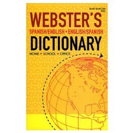 24 Units of WEBSTER Spanish-English / English-Spanish Dictionary - Crosswords, Dictionaries, Puzzle books