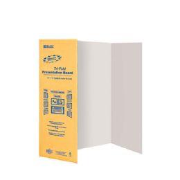 """30 Units of 28"""" X 40"""" White Tri-Fold Corrugated Presentation Board - Poster & Foam Boards"""