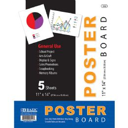 "48 Units of 11"" X 14"" White Poster Board (5/Pack) - Poster & Foam Boards"