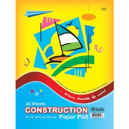 "48 Units of 32 Ct. 9"" X 12"" Construction Paper Pad - Paper"