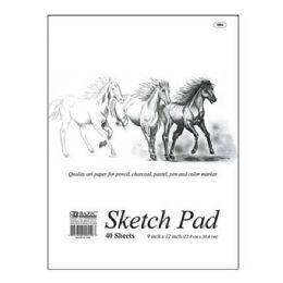 """48 Units of 40 Ct. 9"""" X 12"""" Premium Sketch Pad"""