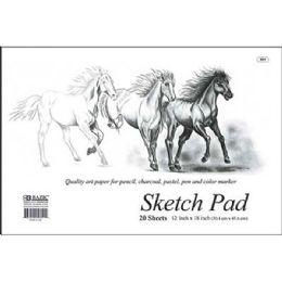 """48 Units of 20 Ct. 18"""" X 12"""" Premium Sketch Pad"""