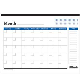 48 Units of Undated 12-Months Desk Pad Calendar - Calendars & Planners