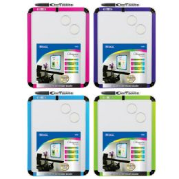"""12 Units of 8.5"""" X 11"""" Fancy Magnetic Dry Erase Board w/ Marker & 2 Magnets - Chalk,Chalkboards,Crayons"""