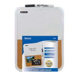 """12 Units of 8.5"""" X 11"""" Dry Erase / Cork Combo Board W/ Marker - Dry Erase"""