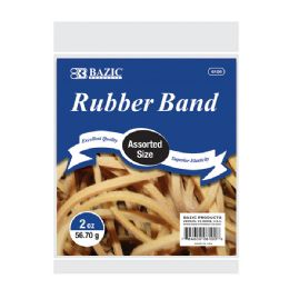 36 Units of 2 Oz./ 56.70 g Assorted Sizes Rubber Bands - Rubber Bands