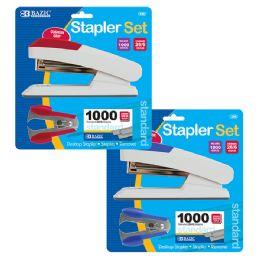 12 Units of Comfort Grip Desktop Stapler Set - Staples and Staplers