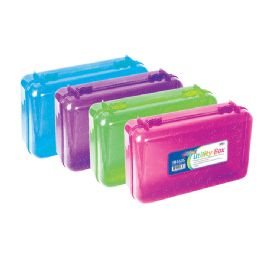 24 Units of Glitter Bright Color Multipurpose Utility Box - Pencil Boxes & Pouches