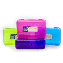 24 Units of Bright Color Multipurpose Utility Box - Pencil Boxes & Pouches