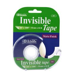 "24 Units of 3/4"" x 1296"" Invisible Tape w/ Dispenser - Tape"
