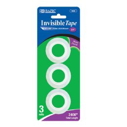 "12 Units of 3/4"" X 800"" Invisible Tape Refill (3/Pack) - Tape"