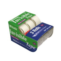 "24 Units of 3/4"" X 500"" Invisible Tape (3/Pack) - Tape"