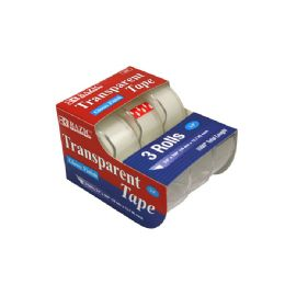 """24 Units of 3/4"""" X 500"""" Transparent Tape (3/pack) - Tape"""
