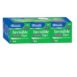 "12 Units of 3/4"" X 1000"" Invisible Tape Refill (12/Pack) - Tape"