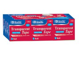"""12 Units of 3/4"""" X 1296"""" Transparent Tape Refill (12/pack) - Tape"""