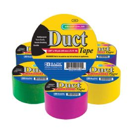 "36 Units of 1.88"" X 10 Yard Assorted Fluorescent Colored Duct Tape - Tape"