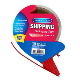 """36 Units of 1.88"""" X 27.3 Yards Super Clear Heavy Duty Packing Tape With Dispenser - Tape"""