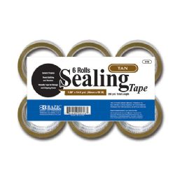 """6 Units of 1.88"""" X 54.6 Yards Tan Packing Tape (6/pack) - Tape"""