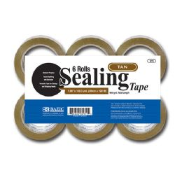 "6 Units of 1.88"" X 109.3 Yards Tan Packing Tape (6/pack) - Tape"