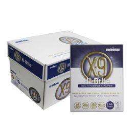 """BOISE X-9 Hi-Brite (96) 8.5"""" X 11"""" 3-Hole Punched White Copy Paper (10 Reams/Case) - PAPER"""