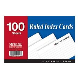 48 Units of 100 CT 4 X 6 INDEX CARDS RULED FRONT AND PLAIN BACK