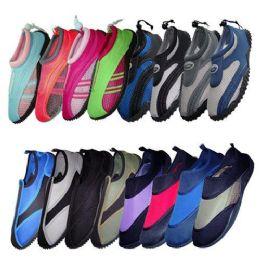 48 Units of Water Shoe Display 48 Pairs Assorted Styles + Sizes - Women's Aqua Socks