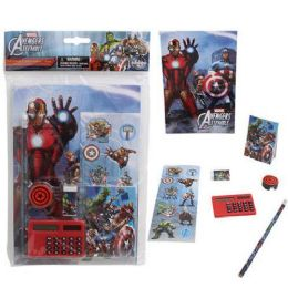 24 Units of MARVEL AVENGERS 7 PIECE SCHOOL SET COMES WITH ESSENTIAL SCHOOL SUPPLIES