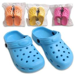 48 Units of CLOGS GIRLS SIZES 12-4 4 ASSORTED COLORS - Girls Flip Flops