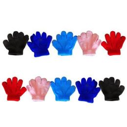 60 Units of ASST SOLID GLOVE INFANT SIZES - Knitted Stretch Gloves