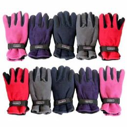 36 Units of FLEECE GLOVES ASSORTED COLORS - Fleece Gloves