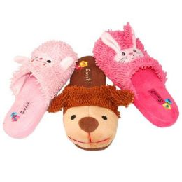36 Units of WOMENS ANIMAL SLIPPERS SIZE 5-10 SHEEP, DOG, BUNNY - Womens Slippers