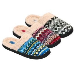 24 Units of WOMENS SLIPPERS SIZE 5-10 BLUE, PINK, GRAY - Womens Slippers