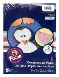 12 Units of Pacon Creative Products Construction Paper 40 Sheets - Paper