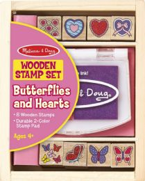 6 Units of Butterfly And Heart Stamp Set - Baby Toys